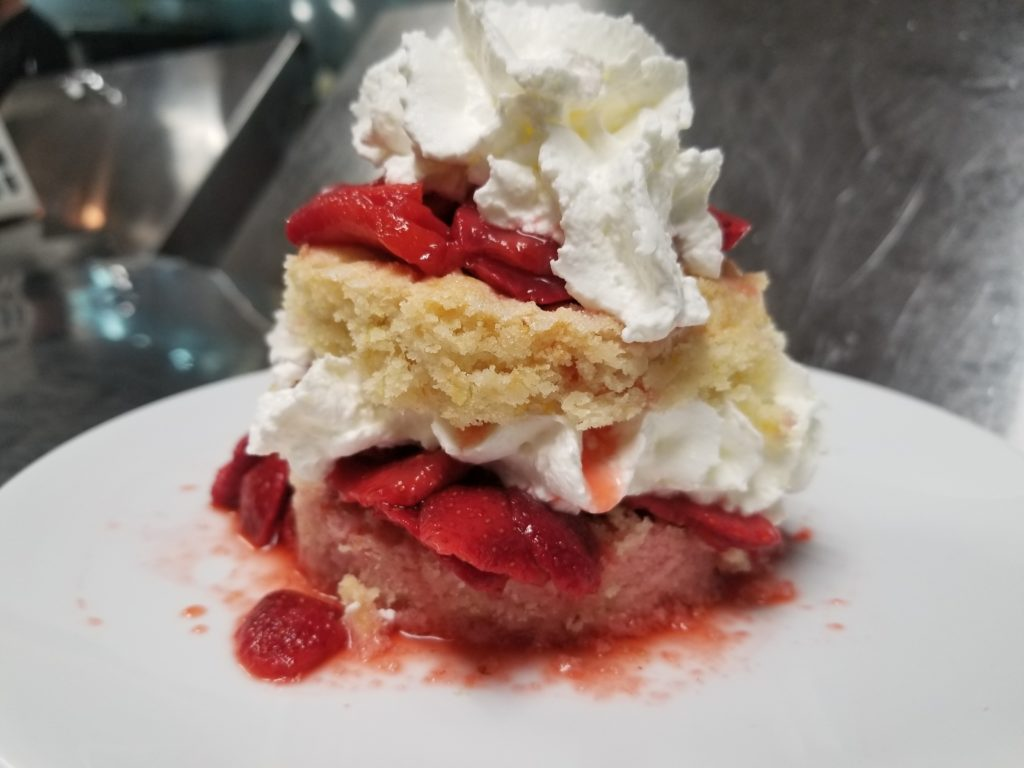 Local Macerated Strawberries, Shortcake, Fresh Whipped Cream