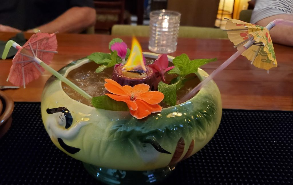 Flaming Tiki Scorpion Bowl