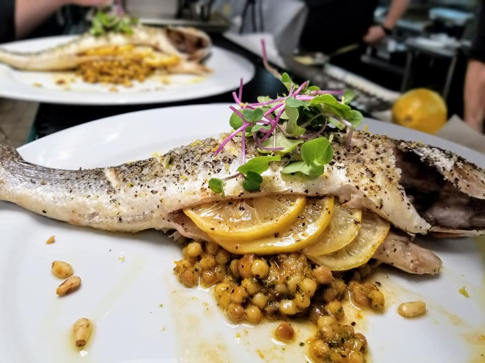 Branzino, Fregola Sarda with Roasted Butternut Squash